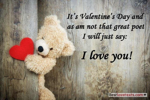 Beautiful message for Valentine's Day