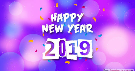 texts of wishes for the new year 2019